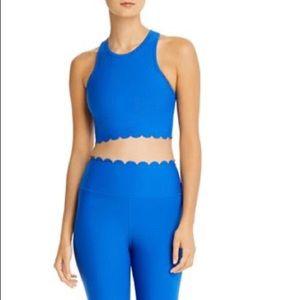 Aqua athletic scalloped sports bra and leggings